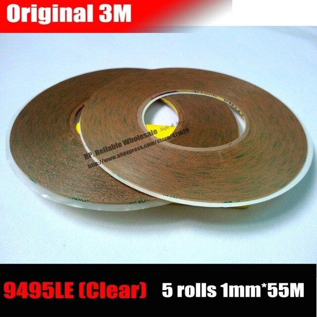5 rollos (1mm * 55 M * 0,17mm) cinta adhesiva de doble cara Original 3 M Strong Bond para ipad Samsung, Panel de pantalla de tableta de teléfono Android