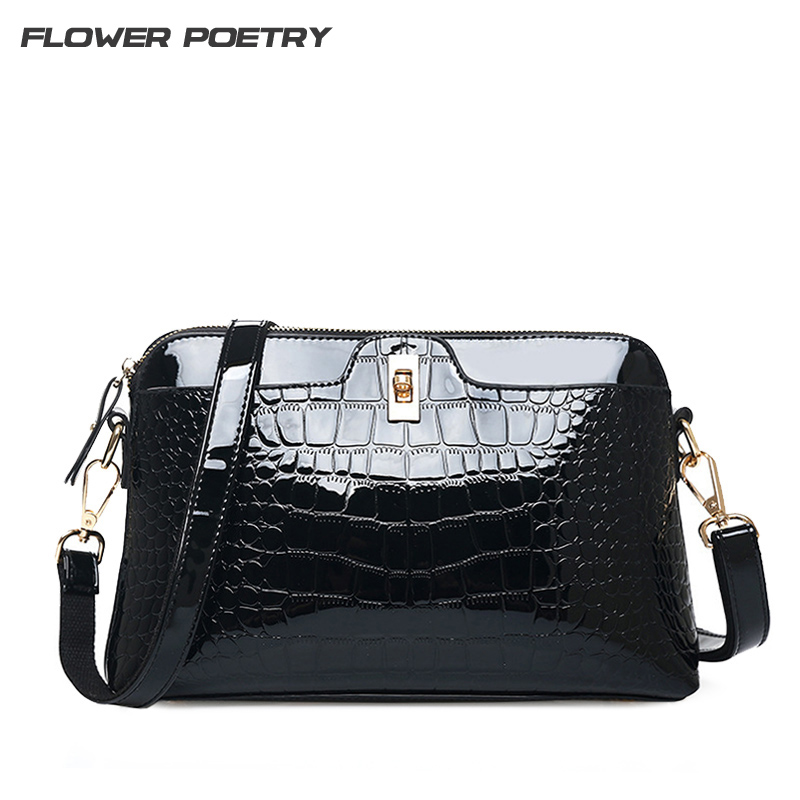 Luxury Crocodile Women Handbags Famous Brands Designer Women Messenger Crossbody Bags Female Shell Shoulder Bag  Bolsa Feminina zobokela women messenger bags female 2018 crossbody bags for women leather handbags women shoulder bags famous brands bolsa
