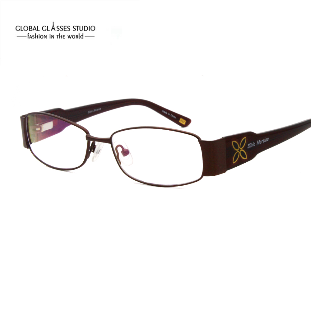 Full Rim Metal Optical Frame Ladies Eyewear Frame Glasses Glasses Precription Eyeglass Frame SM4021