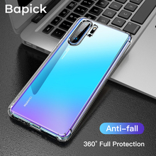 Bapick Silicone Solf TPU Phone Case for Huawei P30 P20 Lite Pro mate 20 y6 y7 Y9 2019 nova 3 3i Protective
