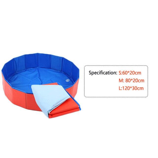 Waterproof  Pet Dog Cat  PVC Washing Pond Dog Tub Bed Foldable Pet Play Swimming Pool Cats Dogs Bathing Bathtub Newest