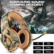 K1 Camouflage PS4 Headset Deep Bass Gaming Headphone Game Earphones Casque with Mic Stereo for Cell Phone New Xbox One Laptop PC