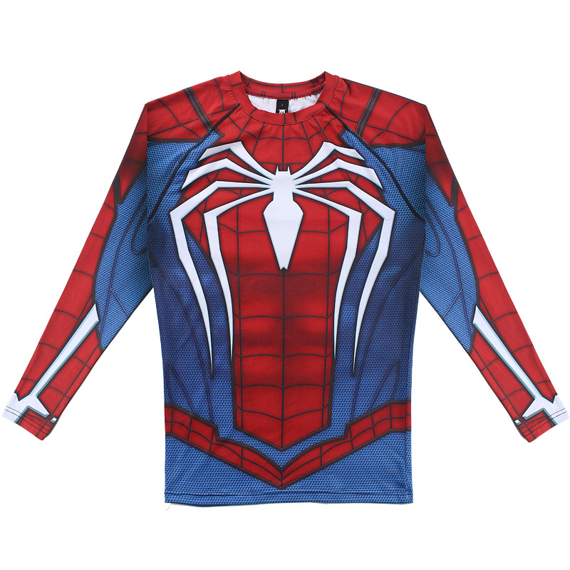 Spider man long sleeve compression t shirt comicstoy for Compressed promotional t shirts