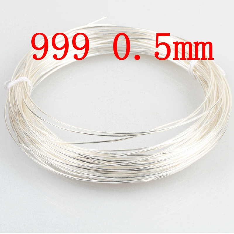 999 Purity 0.5mm Pure Silver Wire 25 Gauge silver thread Sterling ...
