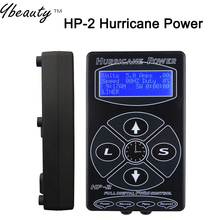 Hot Selling Black HP-2 Hurricane Tattoo Power Supply Digital Dual LCD Display Tattoo Power Supply Machines Free Shipping