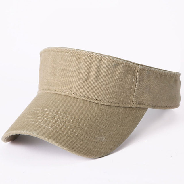 210c2435 Vintage Washed 100% Cotton Sun Visor Cap Men Women Summer Outdoor Sport Golf  Tennis Jogging Khaki Navy White Grey Dark Red