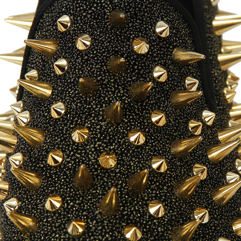 Puntas Zapatos Vestir Negro Mano Clásico Cuero De Con Hecho Holgazán A Harpelunde Hombres oro Pwnq51TtF