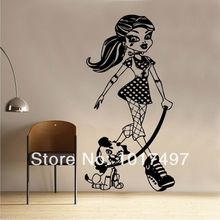 De gran tamaño creativa Monster High Frankie Stein de pared de vinilo, 60 x 118 cm envío gratis Monster High tatuajes de pared K1051