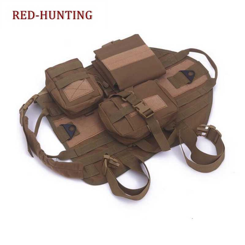 الجيش التكتيكية الكلب سترات في الهواء الطلق العسكرية الكلب الملابس سوات التكتيكية الكلب التدريب رخوة سترة مع الحقائب يوم حزمة