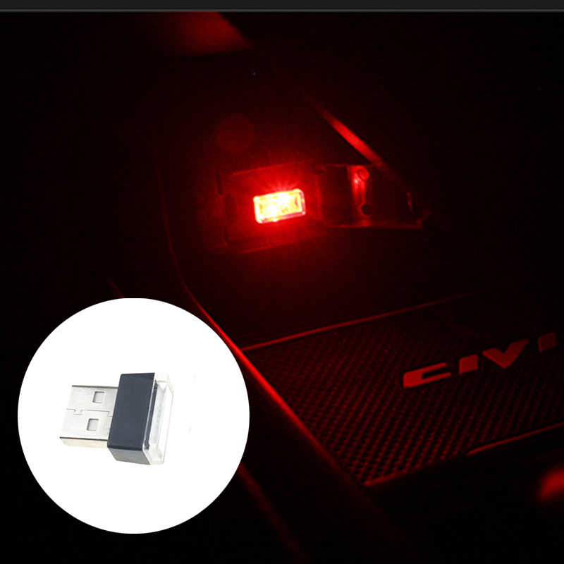 Car Universal USB LED Decorative Light Auto Parts for Hyundai ix35 iX45 iX25 i20 i30 Sonata,Verna,Solaris,Elantra,Accent,