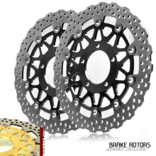 Motorcycle accessories Front Disc Brake Rotor Scooter Front Rear Brake Rotor For KAWASAKI ZX-14R ZZR1400 GTR1400 2006-2014 starpad for xinyuan accessories x2x front disc brakes front and rear sheet for xinyuan x2 x2 x2x brakes 4