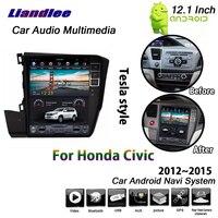 Liandlee 12.1 Inch Android 6.0 2+32G For Honda Civic 2012~2015 Car Tesla Screen Carplay Wifi GPS Map Navi Navigation Multimedia