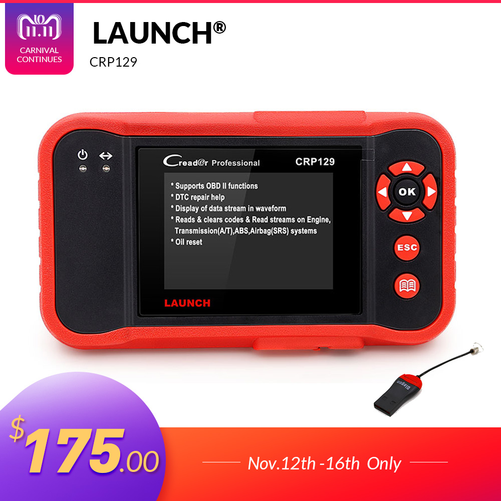 все цены на Launch X431 Creader CRP129 CRP123 Creader VIII OBD2 diagnostic tool for ENG/AT/ABS/SRS + EPB/Oil/SAS reset X431 CRP 129 Scanner онлайн