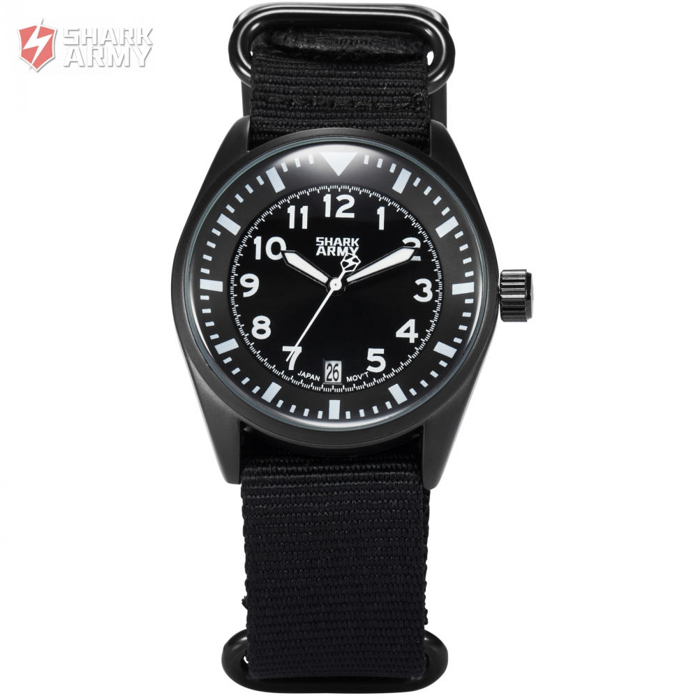 Shark Army Auto Date Display Stainless Steel Case Black Strap Men Quartz Sport Wrap Gift Analog Military Wrist Watch / SAW105 voodoo ii shark army auto date black silicone strap military wristwatch sports clock men military quartz wrist watches saw177
