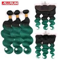 Похожие продукты предварительно Цветной T1b зеленый человеческие волосы с фронтальной бразильский Волосы remy 3 Связки с 13*4 Кружева Закрытие в