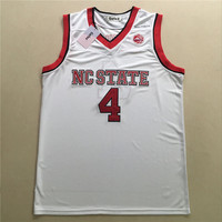 State Wolfpack Dennis Smith Jr Movie Jerseys CC Road White Red Jersey Free Shipping