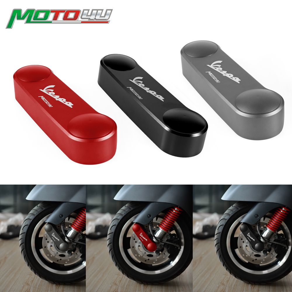 New Motorcycle Front Fork Shock Linkage Link Cover Hub Fork Satin For Vespa GTS300 GTS 300  3colors Black Red Grey