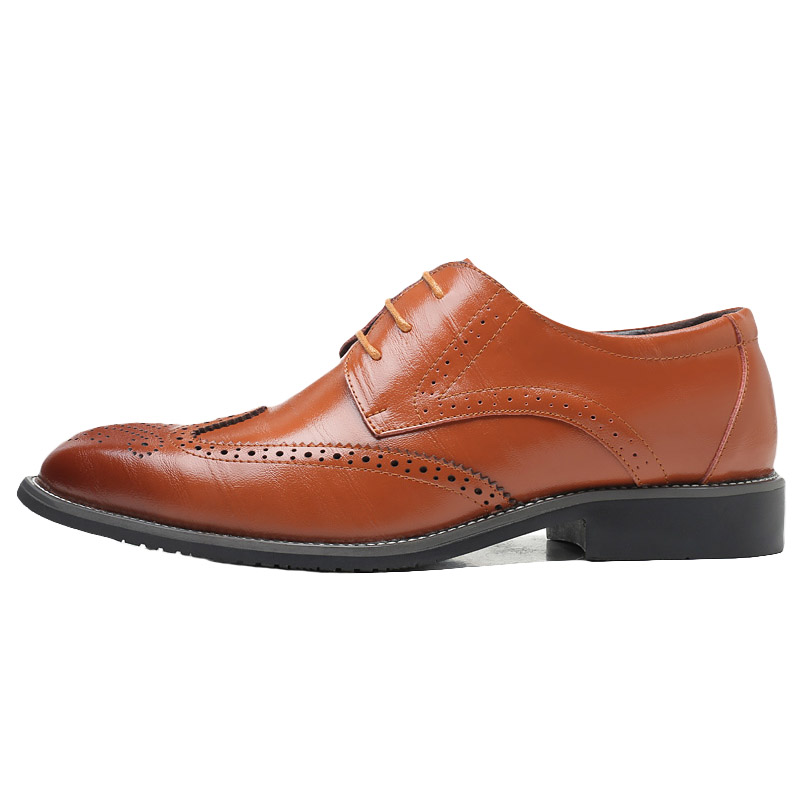 Lacent Homme Hommes Oxford Derby blue Plus Véritable Leath Casual Mode 3848 brown Richelieu Chaussures Noir Taille Yellow black xedCBo