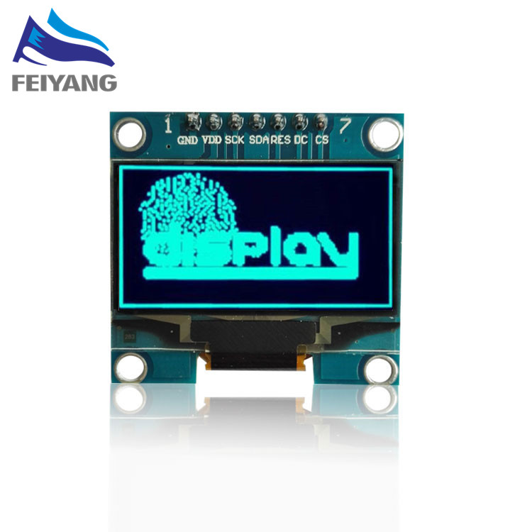 1PCS SAMIORE ROBOT 1 3 OLED module blue color SPI 128X64 1 3 inch OLED LCD