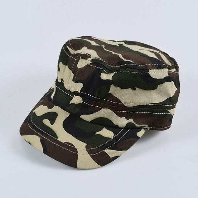 Summer baby Hat Girls Boys Camo Camouflage Military Army Cadet New Fashion Flat  Bill Sun Cap Children Outdoor Sports Hats Ca 247569e91584