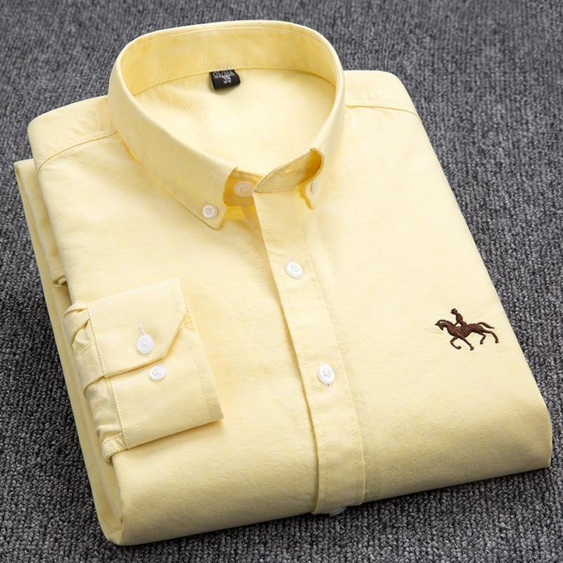 Image 5 - Dudalina Big Size Cotton Brand Shirt Men Long Sleeve Spring Mens  Casual Shirts Oxford Dress Shirt Camisa Masculina Printed Horseshirt  men long sleevecamisa masculinacamisa brand