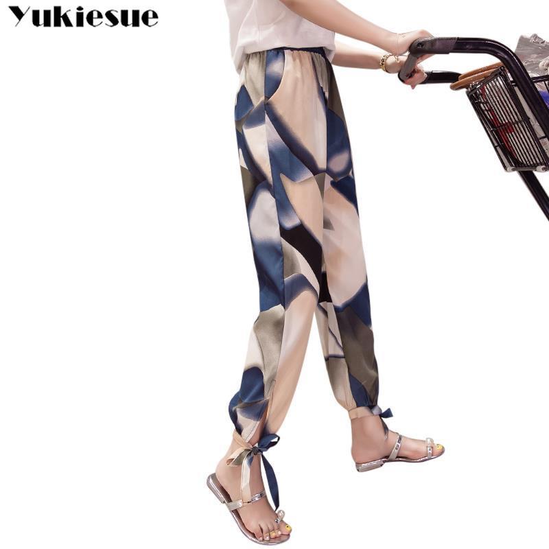 summer 2019 fashion Bohemian women's   pants     capris   with high waist harem   pants   for women trousers woman   pants   female Plus size