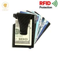 OSWEGO Credit Card/Holder/RFID/Wallet Aluminum Carbon Fiber Elastic Business Slim Unisex Organizer ID Card Holder 2018
