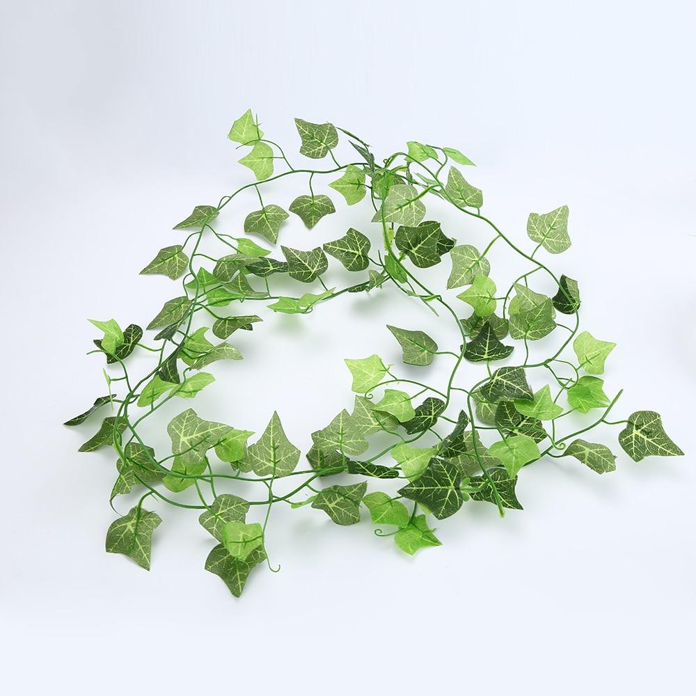 Dropship 2.5M/98.7Inch Artificial Plants Fake Green Garland Leaf Faux Ivy Vine Foliage Delicate Wedding Home Decor