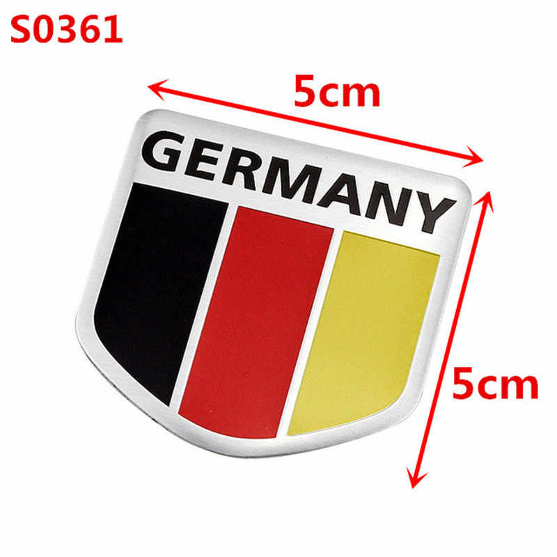 3D Metal Germany German National Flag Badge Car Front