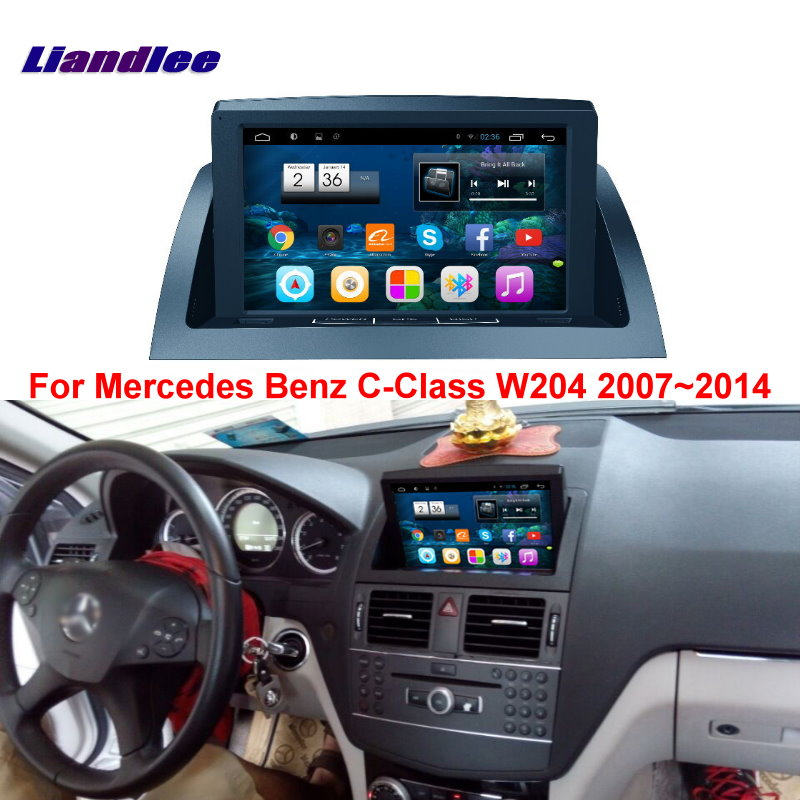 liandlee for mercedes benz c class w204 2007 2014 car android radio player gps navi maps hd. Black Bedroom Furniture Sets. Home Design Ideas