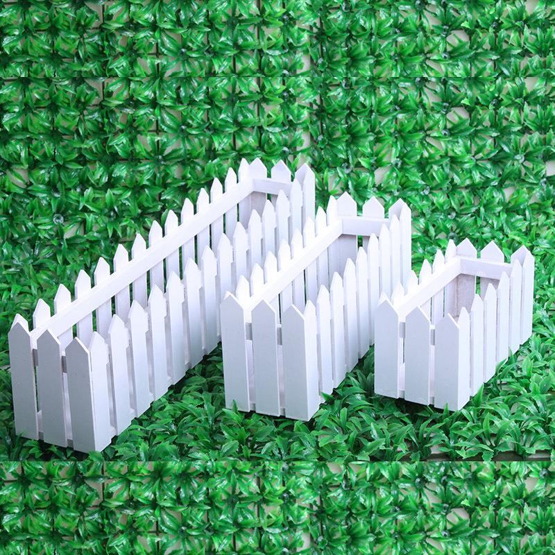 2015 Desktop decorative artificial  flower  box 20-30-50 cm white wooden fence wholesale