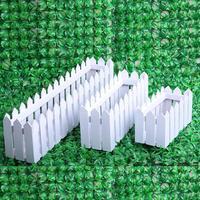 2015 Desktop decorative artificial flower box 20-30-50 cm white wooden fence wholesale
