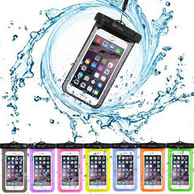 GETIHU Universal Waterproof Bag Pouch Phone Case For iPhone X 8 7 6 5 Samsung S8 Note 8 Huawei P10 Xiaomi Redmi Water Proof Case 3