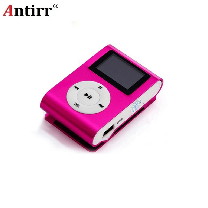 2018 New LCD Screen Metal Mini Clip MP3 Player with Micro TF/SD Slot with Earphone and USB Cable Portable MP3 Music Players