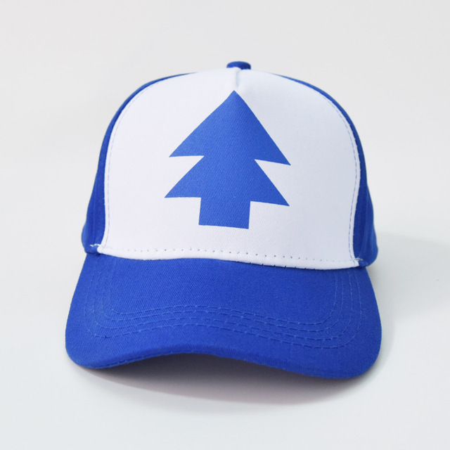 1939b4dfd US $2.67 24% OFF|Gravity Falls Cap BLUE PINE TREE Trucker Cartoon Hat New  Curved Bill Dipper Unisex Baseball Action Figure Toys-in Action & Toy ...