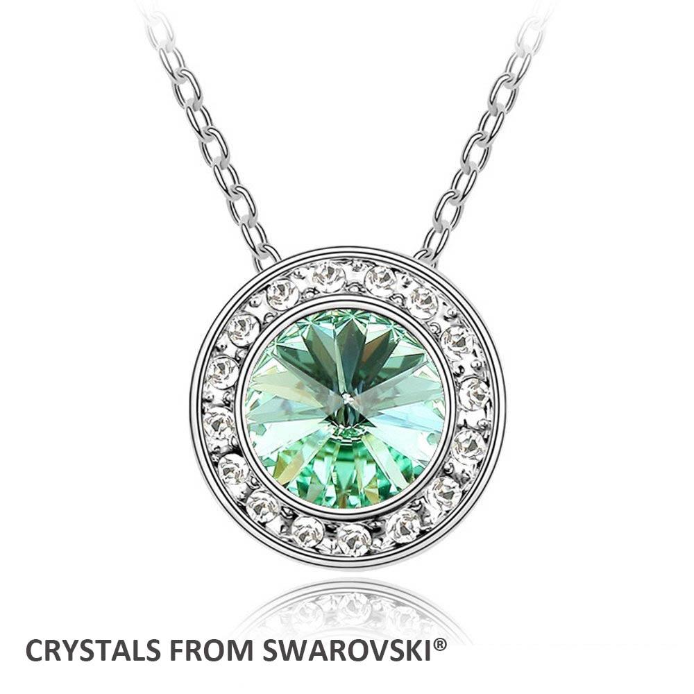 2016 de noël mère de cadeau du jour! Hot angélique collier pendentif rond  avec cristaux de Swarovski gros