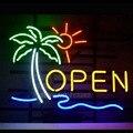 Открытый бизнес неоновая световая вывеска Настоящая стеклянная трубка ручной работы неоновые лампы пивной бар пивная комната отдыха гараж...