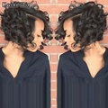 2016 Newest Short Curly Haircuts For Women Black Women Hairstyles Cheap Synthetic Wigs African American Curly Wigs Lolita Wig