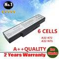 Venta al por mayor nuevos 6 celdas de la batería del ordenador portátil para Asus A72 K72 K73 N71 N73 X77 serie A32-K72 A32-N71 envío gratis
