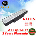 Wholesale   New 6 cells laptop battery For Asus A72 K72 K73 N71 N73 X77 Series  A32-K72 A32-N71  Free shipping