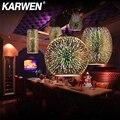 KARWEN современные 3D Красочные Подвесные Светильники скандинавские Звездные промышленные подвесные лампы E27 LED для кухни ресторана гостиной