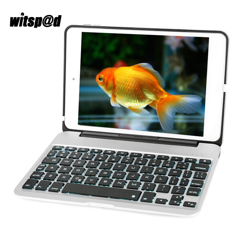 Witsp@d Blacklit Keyboard for iPad Mini 4 Keyboard Case for Tablet 7 color Aluminum USB Bluetooth with Protective Clamshell Case laptop keyboard for hp for envy 4 1014tu 4 1014tx 4 1015tu 4 1015tx 4 1018tu backlit northwest africa 692759 fp1 mp 11m6j698w