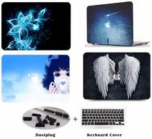 3in1 Laptop Case Notebook Tablet Hard Shell Keyboard Cover Skin Dust Plugs Set For 11 12 13 15 Macbook Air Pro Retina Touch Bar