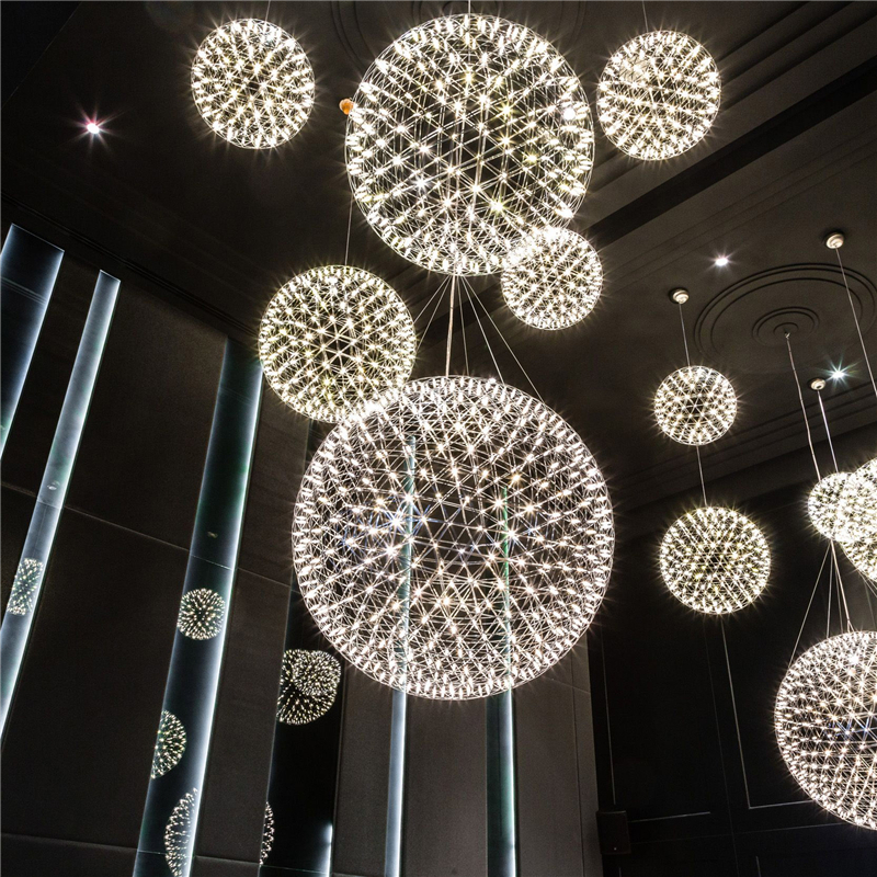 LED Creative personality restaurant chandelier led chandelier ball spark Nordic minimalist living room chandelier restaurant цена и фото