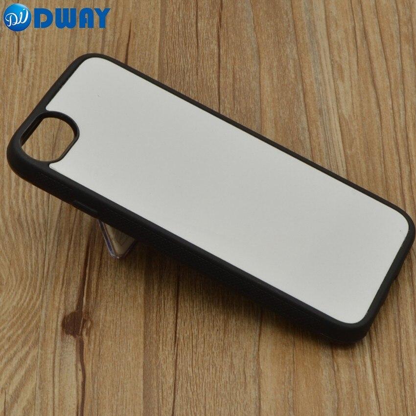 bilder für 2D TPU Gummi DIY Sublimation Blank Abdeckungs-fall für iPhone 7/7 Plus Mit Aluminiumplatte 20 TEILE/LOS