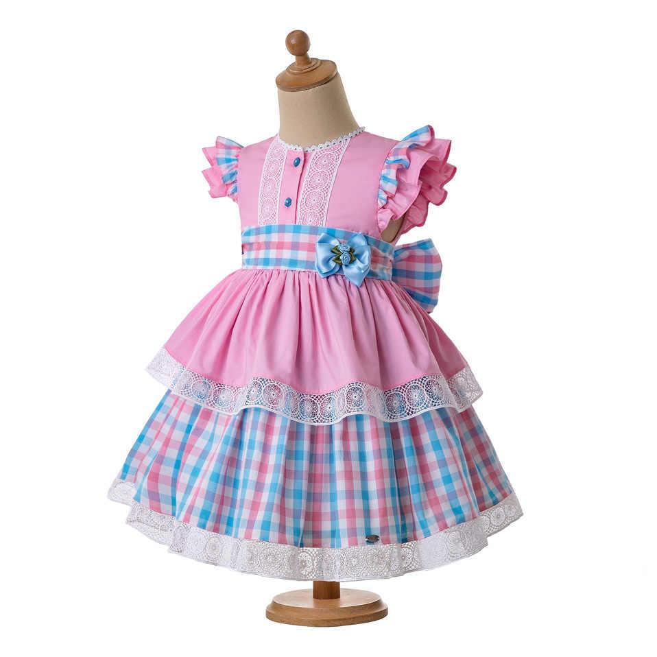 Pettigirl/летние сетчатые платья для маленьких девочек хлопковая детская одежда без рукавов в форме сердца с цветами и бантом G-DMGD112-B487