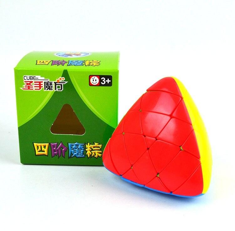 Shengshou Megamorphix 4x4x4 Rice Dumpling Stickerless Magic Cube  4x4 Mastermorphix Speed Cube Pyramorphix