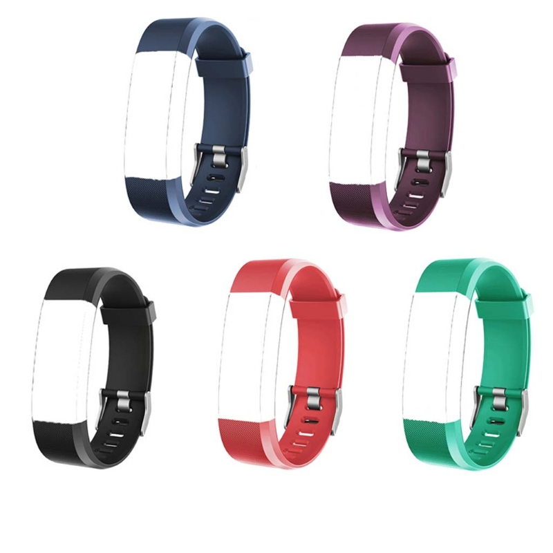 JAVRICK for ID115 Plus Wrist Band Strap Replacement Silicone Watchband Smart Watch Bracelet jansin 22mm watchband for garmin fenix 5 easy fit silicone replacement band sports silicone wristband for forerunner 935 gps