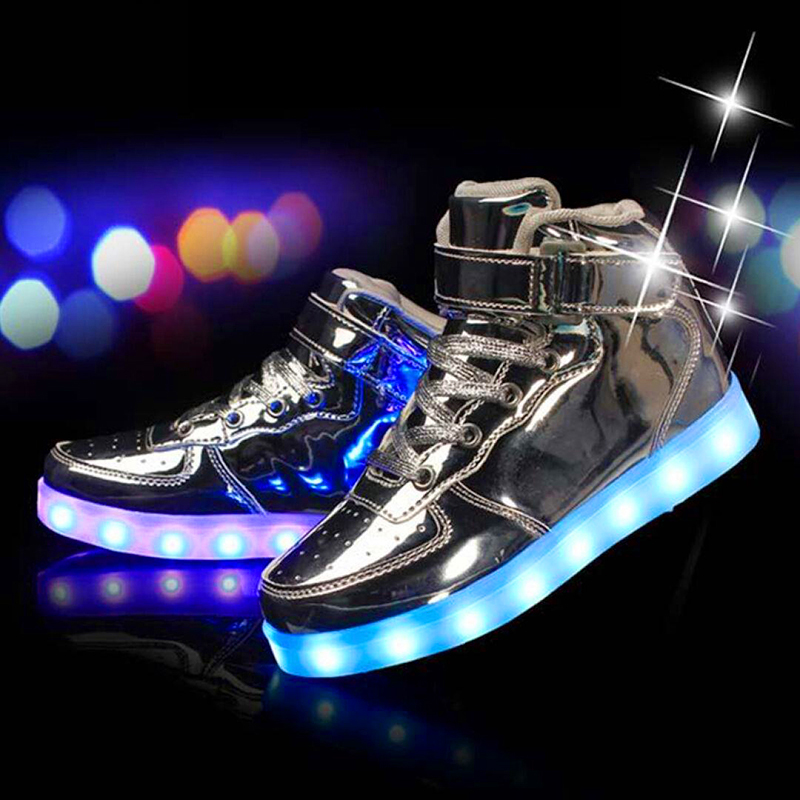 Children Sneakers Light Sole Kids Sport Shoes Backlight Chaussure Enfant Glowing Sneakers USB LED Shining Shoes 60Z112 children glowing sneakers light soles shining led shoes kids trainers krossovky running child shoes backlight baby 50k102
