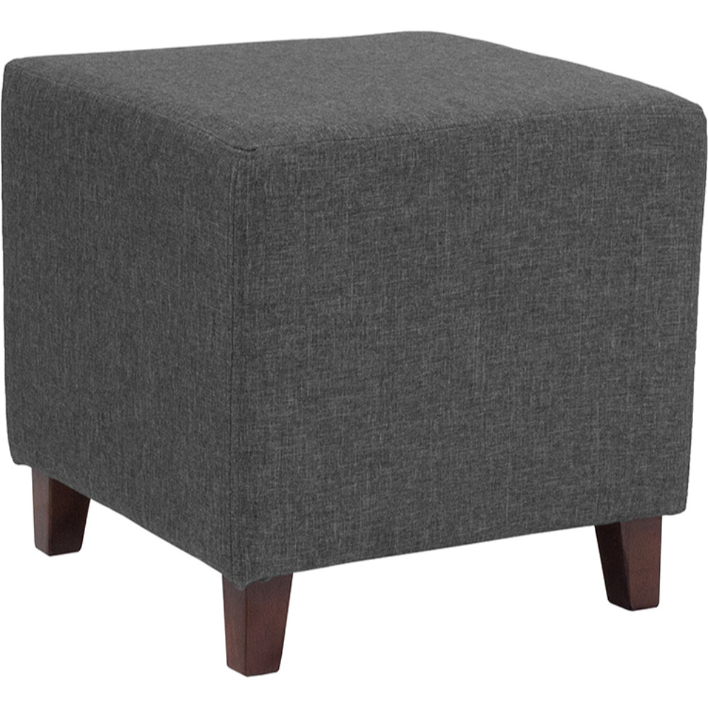 все цены на Ascalon Upholstered Ottoman Pouf in Dark Gray Fabric онлайн